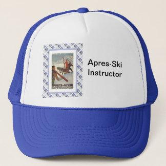 Vintage travel poster, Winter sports Trucker Hat