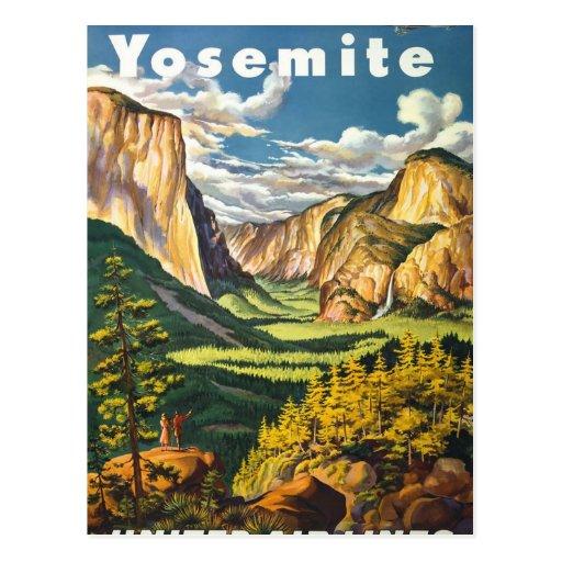 Vintage Travel Poster - Yosemite Postcard