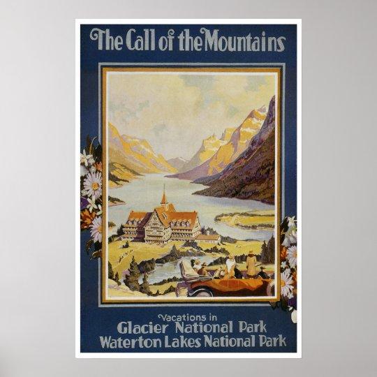 Vintage Travel Posters - Glacier National Park