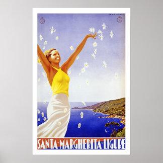 vintage travel posters santa margherita ligure