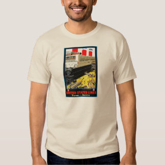 Vintage Travel Posters: United States Lines T Shirts