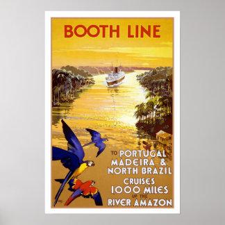 Vintage travel,Quantas-Amazon cruise Posters