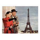 Vintage Travel - Retro Paris - Eiffel Tower Postcards