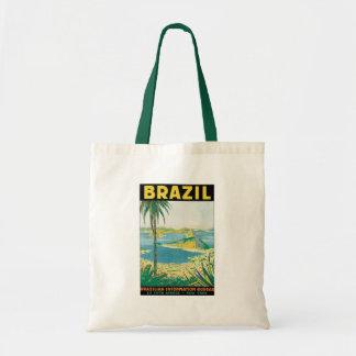Vintage Travel Rio de Janeiro Brazil Coastal Beach Tote Bag