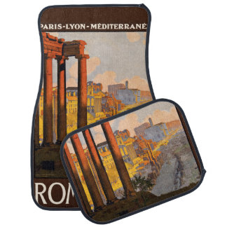 Vintage Travel Rome Italy car floor mats