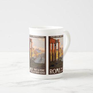 Vintage Travel Rome Italy mugs