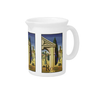Vintage Travel Rome Italy pitcher