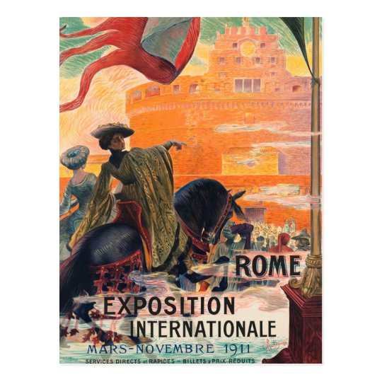 Vintage travel Rome Italy - Postcard