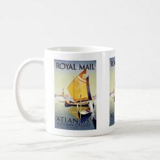 Vintage travel,Royal Mail Cruises Basic White Mug