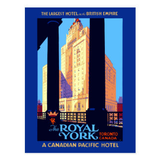 Vintage Travel Royal York Hotel Toronto Canada Postcard