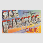Vintage Travel San Francisco Rectangular Sticker