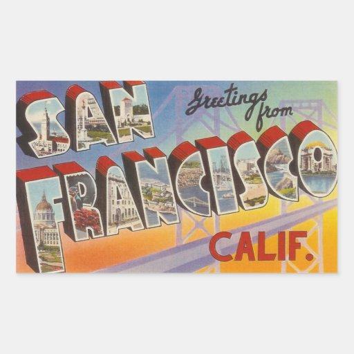 Vintage Travel San Francisco Stickers