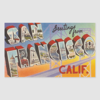 Vintage Travel San Francisco Stickers