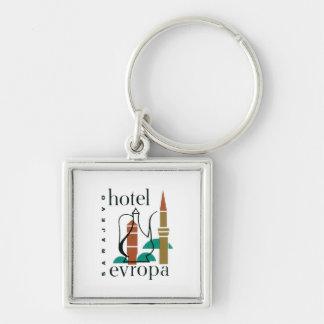 Vintage Travel Sarajevo Hotel Label Key Chains