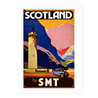 Vintage Travel Scotland By Bus Postcard