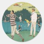 Vintage Travel Scotland Golf Golfing Golfers Sport Classic Round Sticker