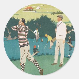 Vintage Travel Scotland Golf Golfing Golfers Sport Sticker
