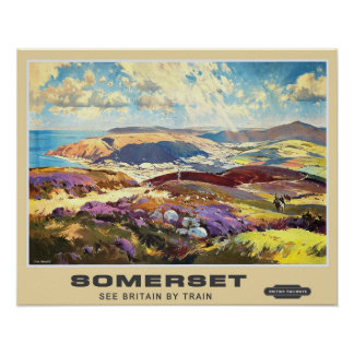 Vintage Travel,Somerset Poster