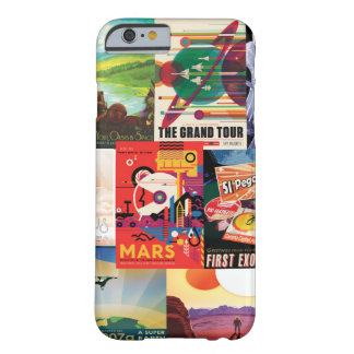 Vintage travel space poster collection barely there iPhone 6 case