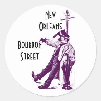 Vintage Travel Stickers Bourbon Street New Orleans