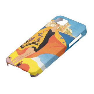 Vintage Travel, Summer Beach with Woman at Calvi Barely There iPhone 5 Case