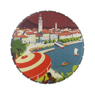 Vintage Travel Switzerland Candy Tins