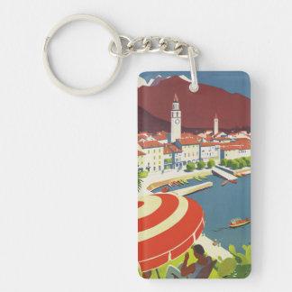 Vintage Travel Switzerland Key Ring