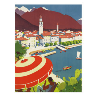 Vintage Travel Switzerland Postcard