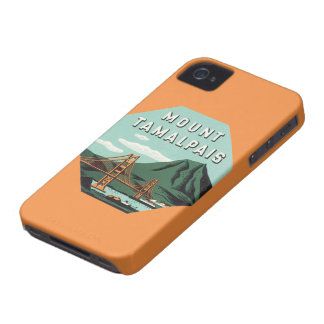Vintage Travel, Tamalpais Mountain or Mount Tam iPhone 4 Covers