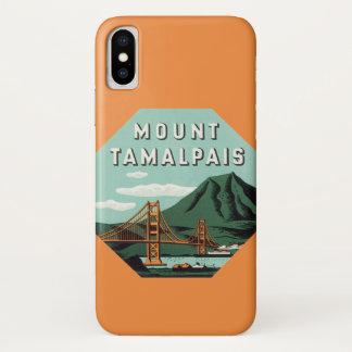 Vintage Travel, Tamalpais Mountain or Mount Tam iPhone X Case