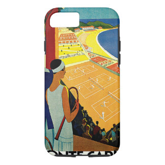 Vintage Travel, Tennis, Sports, Monte Carlo Monaco iPhone 8/7 Case