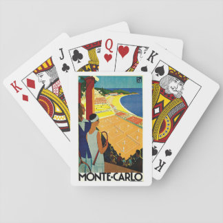 Vintage Travel, Tennis, Sports, Monte Carlo Monaco Playing Cards