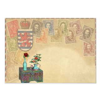 Vintage Travel Themed Save The Date Cards 13 Cm X 18 Cm Invitation Card