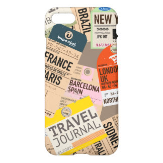 Vintage Travel Tickets iPhone 8/7 Case
