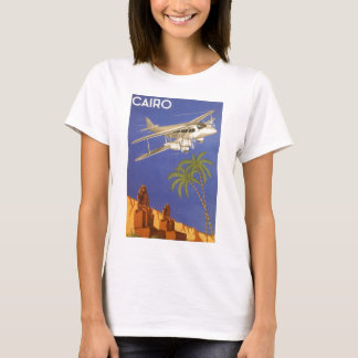 Vintage Travel to Cairo, Eygpt, Biplane Airplane T-Shirt