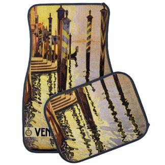 Vintage Travel Venice Italy car floor mats