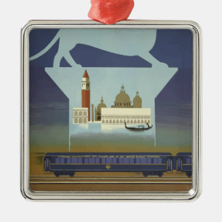 Vintage Travel Venice Orient Express Christmas Ornament
