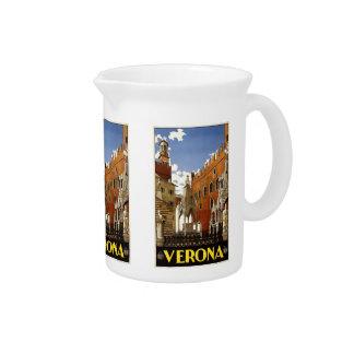 Vintage Travel Verona Italy pitcher