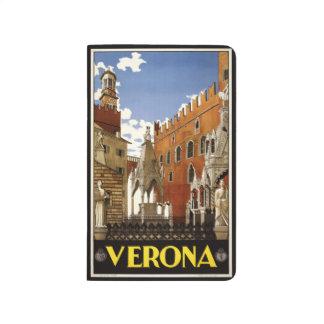 Vintage Travel Verona Italy pocket journal