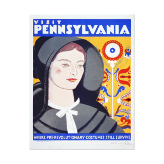 Vintage Travel Visit Pennsylvania Canvas Print
