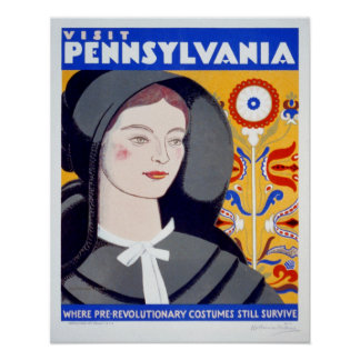 Vintage Travel Visit Pennsylvania Poster