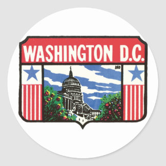 Vintage Travel Washington D.C. State Label Art