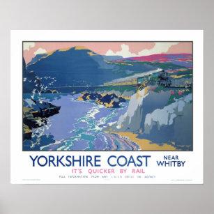 Yorkshire Coast 6 Travel British Railway Photo Vintage Advert Print Retro Poster