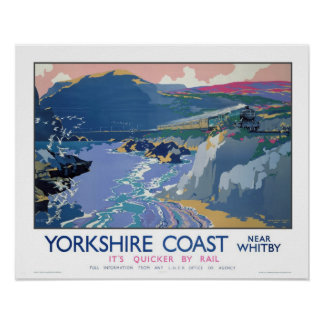 Vintage Travel,Whitby,Yorkshire Poster
