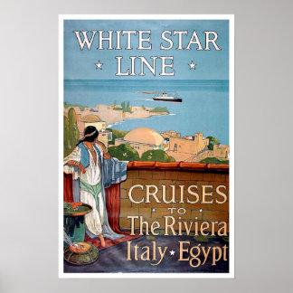 Vintage travel,White Star Line Poster