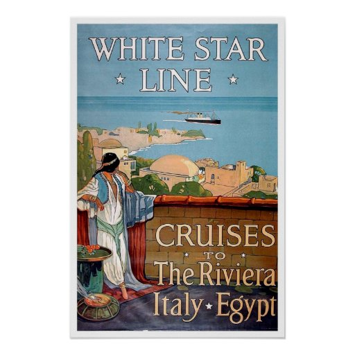 Vintage travel,White Star Line Posters
