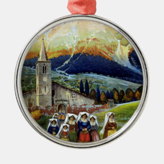 Vintage Travel, Women of Abruzzo, Italy Christmas Ornament