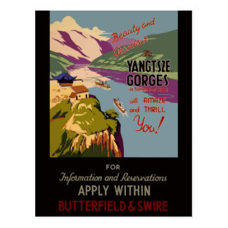 Vintage Travel Yangtsze Gorges China Postcard