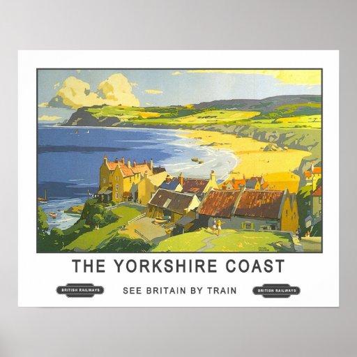 Vintage Travel,Yorkshire Coast Print
