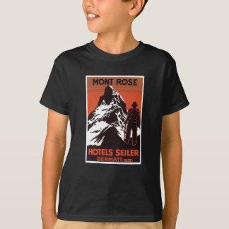Vintage Travel Zermatt Switzerland Hotel Label Tshirts